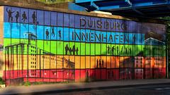 Kunst unter der Brcke - Art under the bridge (LutzMarl) Tags: kunst duisburg innenhafen grafitty
