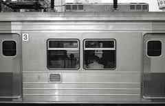 It's a GoodBye II (denise yeap) Tags: travel blackandwhite monochrome train korea trainstation seoul pointandshoot 135 goodbye blacknwhite compactcamera acros100 selfdev klasses