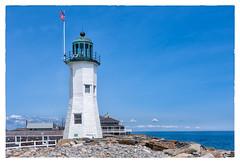 Old Scituate Lighthouse (Timothy Valentine) Tags: ocean lighthouse us unitedstates flag massachusetts large scituate 0516 2016 clichesaturday
