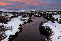 Golden Circle (TXA Photography) Tags: travel winter sunset sun snow mountains ice clouds canon river landscape iceland europe scenic fourseasons canon5d goldencircle riverscape canon5dmkiii icelandphototours