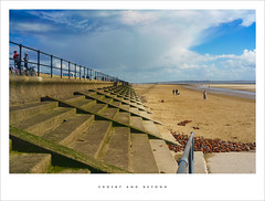 Crosby and beyond (Parallax Corporation) Tags: beach clouds seaside steps seawall promenade crosby merseyside hallroad anotherplace