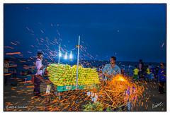 Corn Roaster (msankar4) Tags: beach marina corn boardwalk bluehour marinabeach chennai streetfood tamilnadu vendors roster cornroster