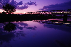KZM_0133 (_k_azuma) Tags: sunset bridges truss trussbridges