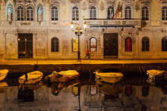 Trieste, 2016 (Antonio_Trogu) Tags: street boy italy man color reflection water colors architecture night walking boats lights canal spring italia streetphotography barche walker lonely acqua riflessi trieste canale friuli 2016 antoniotrogu nikond3100