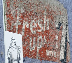 Fresh Up with 7up (Sautterry) Tags: sign asheville northcarolina 7up ghostsign thirstymonk