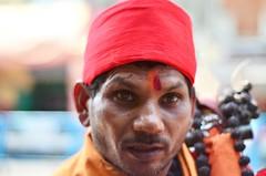 Basant [Stranger # 13 / 100] (s) Tags: india priest kolkata calcutta sadhu basant guruji kalighat 100strangers kalighatkalitemple