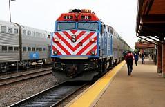Against the Wind (BravoDelta1999) Tags: railroad illinois railway metra naperville bnsf 119 emd burlingtonnorthernsantafe route59 f40ph cbq chicagoburlingtonandquincy chicagosubdivision bnsfracetrack