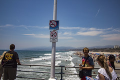 Do Not Feeds Birds (etzel42) Tags: ocean california santa ca pier santamonica socal monica boardwalk westcoast