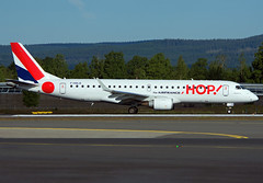 F-HBLB (Skidmarks_1) Tags: norway airport aircraft aviation hop airfrance airliners osl engm oslogardermoenairport britair fhblb embraererj190