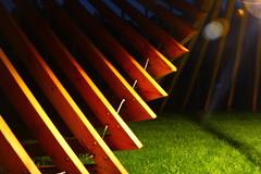 Lichtparcours 2016 (ctpetermann) Tags: wood light shadow sculpture art night outdoor braunschweig symmetrie moire lichtparcours thilofrank
