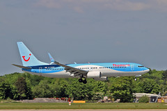 "G-TAWR Boeing 737-8K5SC Thomson Airways MAN 03-06-16 (PlanecrazyUK) Tags: egcc manchester man ringway ""manchester airport"" gtawr boeing7378k5sc thomsonairways 030616"