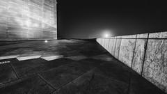 After midnight opera (strupert) Tags: 1424mm d810 nikon blackandwhite bnw monochrome architecture hazy stars moon night opera norway oslo