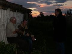 Friends (Sad Mermaid Berlin) Tags: family friends sunset night countryside russia farm soviet gathering udssr