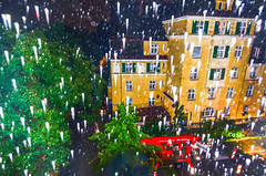 Roadworks (Vladi Stoimenov) Tags: city sky black rain germany dark munich landscape view roadworks outlook starry flashon moonless bavariabayern wrzstrase