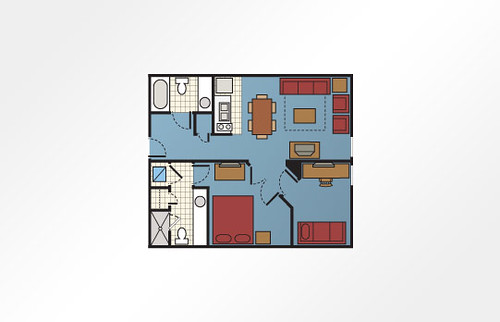 Patrick Henry Square™ 1-Bedroom with Study - 749 sq ft