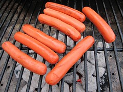 checking out the hotties (frankieleon) Tags: cooking dogs hotdog interestingness interesting bestof outdoor grill cc charcoal creativecommons hotdogs popular dawgs cookout weiners frankieleon
