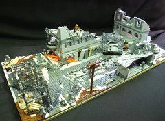 'Horror of Stalingrad' ([Stijn Oom]) Tags: world buildings death tank lego mortar german legos ww2 tanks corners germans stalingrad t34 brickarms bolsjewiks
