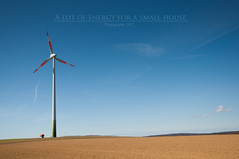 Wind Energy Series (1 of 4) (Mi Ko) Tags: blue sky cloud green mill windmill clouds big energy colorful flickr alone wind energie great himmel wolke wolken clear turbine alternative blauer windpower windenergy windkraft windenergie alternativ
