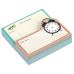 Vintage Clock Shaped Note Pad (Galison/Mudpuppy) Tags: clock stationery notepad vintageclock galison fall2012 shapednotepad