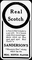 1905 Sanderson's  Mountain Dew  Real Scotch made in a Pot Still (carlylehold) Tags: mountain robert 1 force with you may whiskey dew be whisky scotch 1905 haefner sandersons