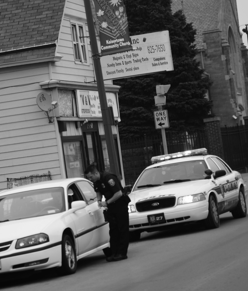 Traffic stop; Clinton St