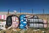 Graffiti near the separation barrier