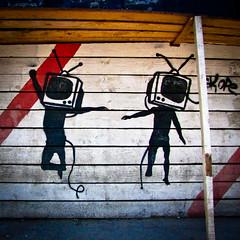 Dancing televisions