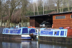 12245 Macclesfield Canal Fools Nook service boats (melbettsimages) Tags: uk england landscape boats canal view cheshire northwest walk transport british alton narrowboat towpath boatyard sunnyday canalboat macclesfield narrowboats workboat cheshirering macclesfieldcanal canalscene canalview cheshireringcanalwalk boatcheshire macclesfieldcanalnarrowboat
