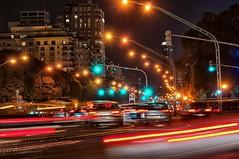 Av. del Libertador (celta4) Tags: street cars argentina night lights luces avenida calle buenosaires nightshot clear nocturna avenue coches libertador semaforos semaphores avdellibertador