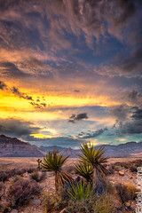 Red Rock Canyon (Eddie 11uisma) Tags: park las vegas sunset red rock clouds canon landscape golden mark magic iii nevada canyon national hour l 5d usm 1740mm f4