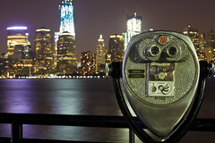 """""""If only we could pull out our brain and use only our eyes"""" Pablo Picasso (Zur@imiAbro@d) Tags: nyc newyorkcity longexposure skyline reflections lights nightshot bokeh manhattan explore hudsonriver libertystatepark citythatneversleeps zurimiabrod"""