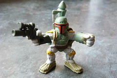 In search of bounty (spikeybwoy - Chris Kemp) Tags: toys starwars actionfigures bobafett hunter upclose bounty