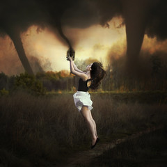 Fearchaser (Taylor Marie McCormick) Tags: sunset white storm clouds jack cloudy fear hell blues skirt jar catch storms winds tornado biggest leotard chasing