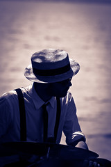 hat (burns73) Tags: man hat canon shadows ombre uomo cappello eos50d