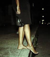 Sexy black woman foot
