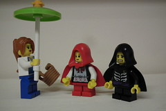 Take the basket and this umbrella... (Paranoid from suffolk) Tags: boy girl basket lego minifigs redridinghood 2012