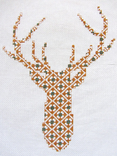 Cross Stitch Deer Head