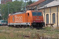 E186-910LI (Raffaele Russo (LeleD445)) Tags: railroad orange smart train merci rail cargo ways freight spotting linea bombardier traxx buisness spotter railfans e186