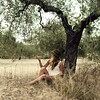 Fascination (Sophia Alexis) Tags: alexis trees portrait me nature girl self canon eos spain olive snail sigma 7d 365 sophia 50m