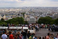 View on Paris (Elisabeth de Ru) Tags: paris france europa europe view frana montmartre tourists frankrijk francia parijs parigi parys  parisi   pariz    celisabethderu parisjuly2012 elisabethderu