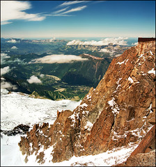 Endless view - much better in original size (press L) (Katarina 2353) Tags: travel blue light summer vacation sky people panorama white mountain snow france mountains alps green film tourism clouds analog alpes french landscape photography high nikon europa europe flickr view place image citadel famous paisaje hills climbing fields peaks paysage range chamonix francia priroda montblanc endless massif aiguilledumidi pejza vertorama katarinastefanovic katarina2353 gettylicense
