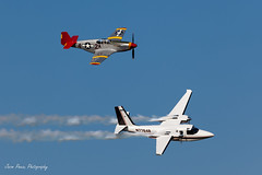Bob Hoover Tribute (Jason Pineau) Tags: wisconsin airplane experimental aircraft aviation bob airshow hoover tribute mustang commander association eaa oshkosh airventure flyby shrike p51 northamerican n7764b