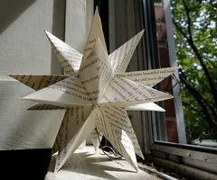 20 Point Paper Star (June Crawford) Tags: christmas paper star ornament bookpages repurposingbooks acreativedream acreativedreamerblogspotcom junecrawford