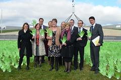 Australian Greens MPs give a Gonski