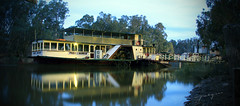 Pride of the Murray (Jacqui B Photography) Tags: winter jacqui reflection water night river boat paddle steam paddleboat murray echuca prideofthemurray mygearandme
