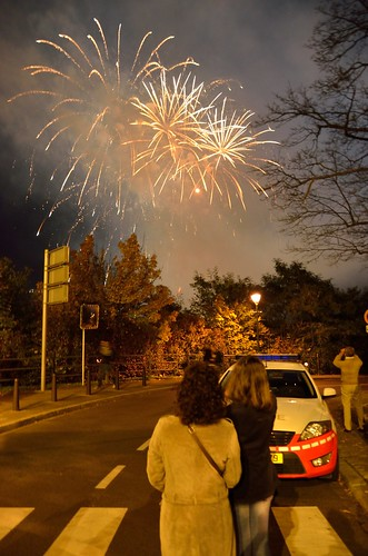 Fireworks for the princess wedding