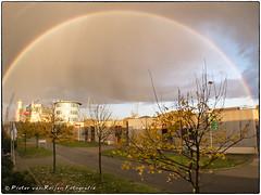 I wanna see the rainbow high in the sky  (PvRFotografie) Tags: nature rain weather regenboog rainbow natuur regen schiedam weer vijfsluizen fujix10 fujifinepixx10