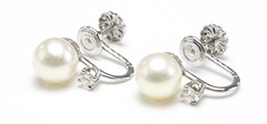 1067. Pearl and Diamond Earrings