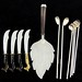 2012. Group of Sterling Silver Flatware, Mexican