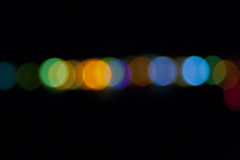 Bokeh (Barry R Martin) Tags: blue light red england orange black blur green yellow night circle lights europe glow purple bokeh circles hampshire outoffocus overlap oilrefinery fawley greatbritian layerd